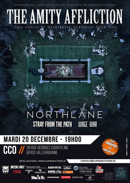 20.12 THE AMITY AFFLICTION + NORTHLANE + STRAY FROM THE PATH + WAGE WAR @ CCO Lyon 519998taa