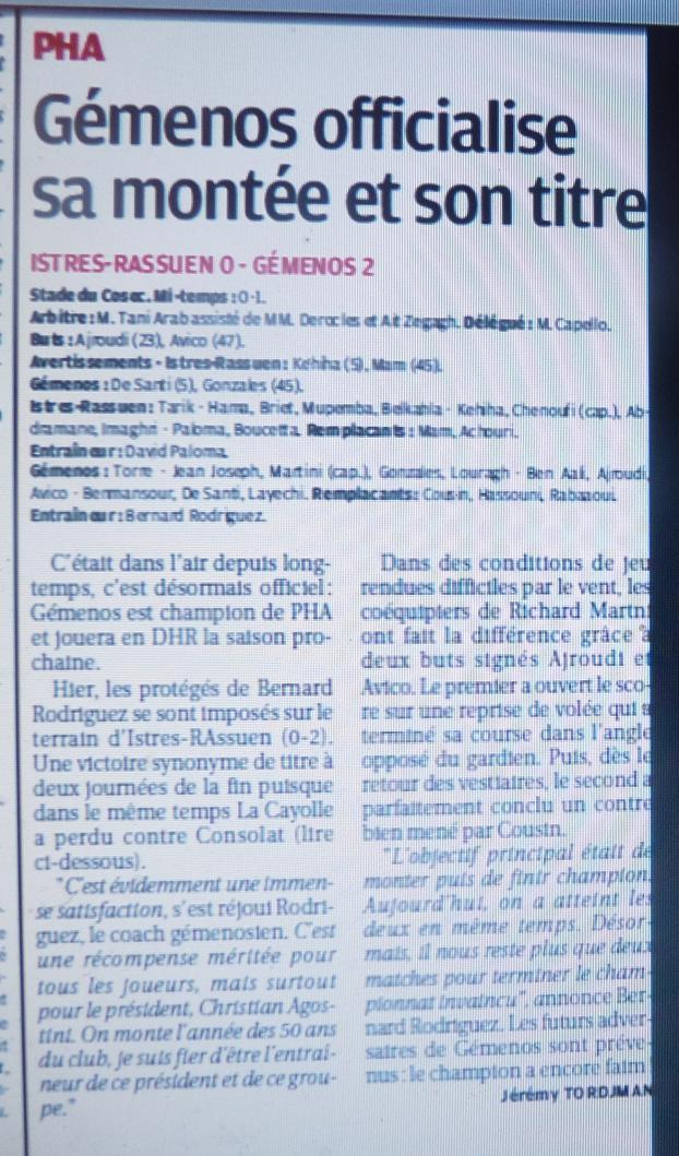 GEMENOS ....A TOMBEAUX OUVERTS// DHR - Page 3 520612P1160882