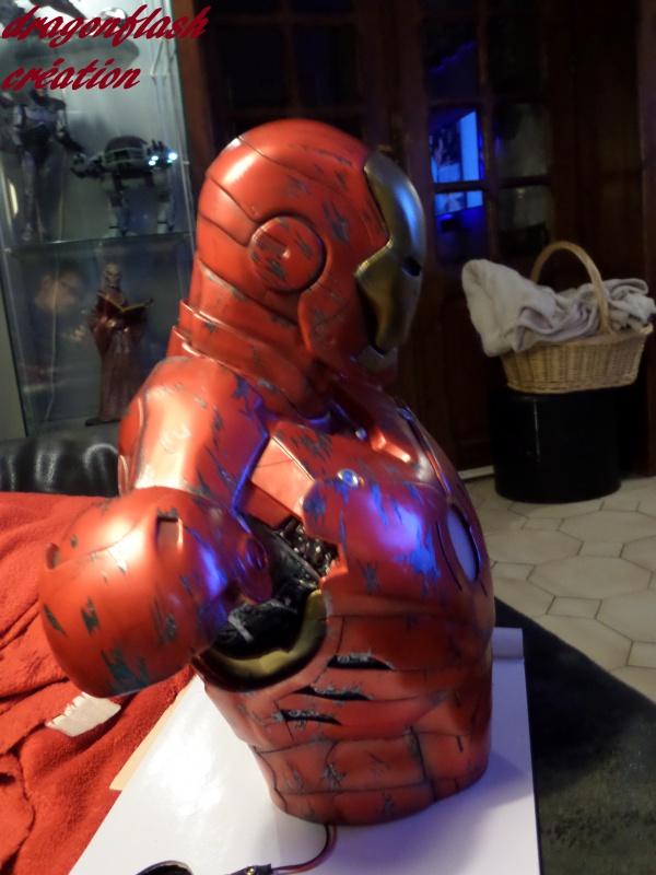 dragonflash création : buste iron man 1/2  (+-40 cm de haut) le final 5234734044