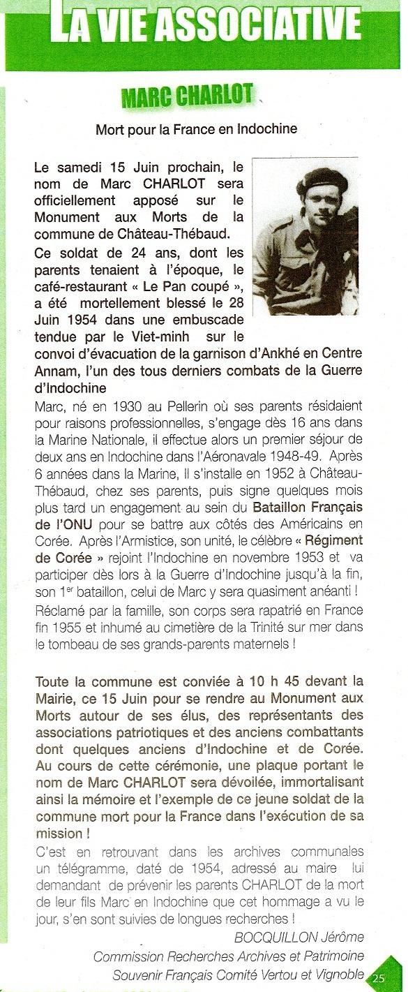 15 Juin 2013 Hommage au soldat Marc CHARLOT du Régiment de Corée Mort pour la France en Indochine  528571img477Copie