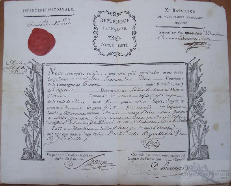 Les bataillons de la Réserve ou bataillons de Soissons ou Bataillons de volontaires nationaux dits de la Réserve 530803DSCF7221