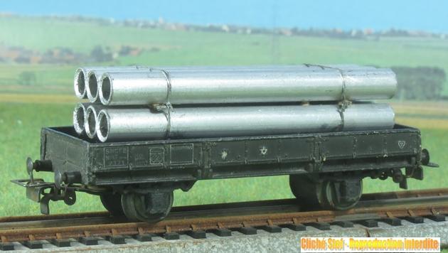 Wagons à 2 essieux zamak à essieux chargés 531806VB2essplatzamaktuyauxIMG3111