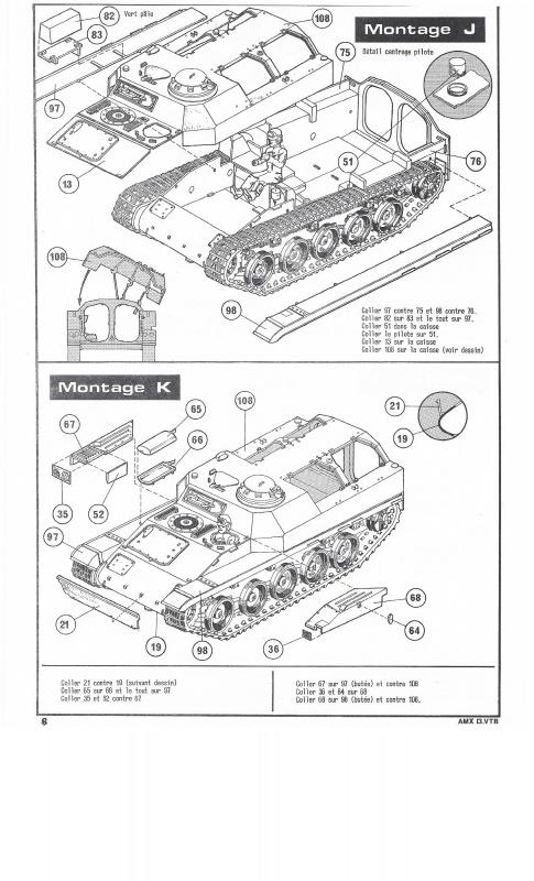 AMX 13 VTB - (Réf. L787) 1/35 532417VTB008