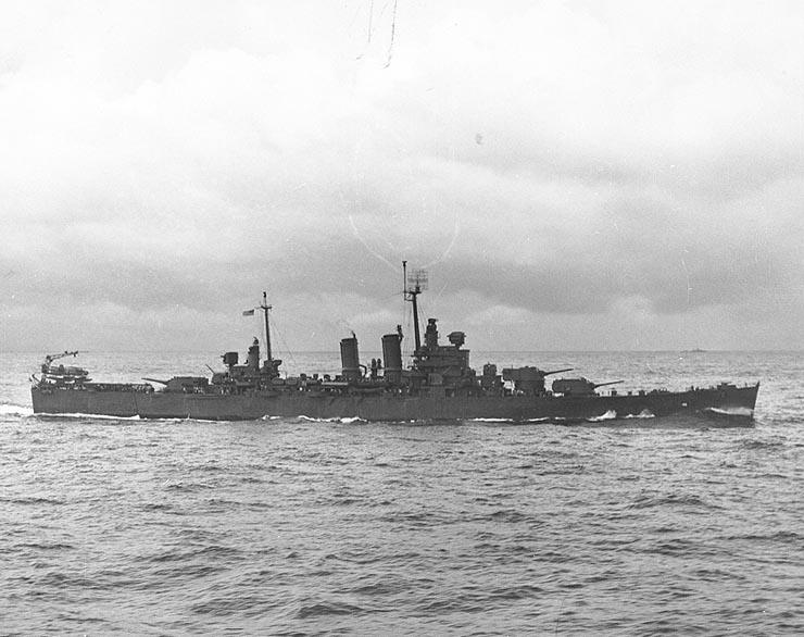USN CROISEUR LOURD USS WICHITA 532474USSWichitaPacifique1944