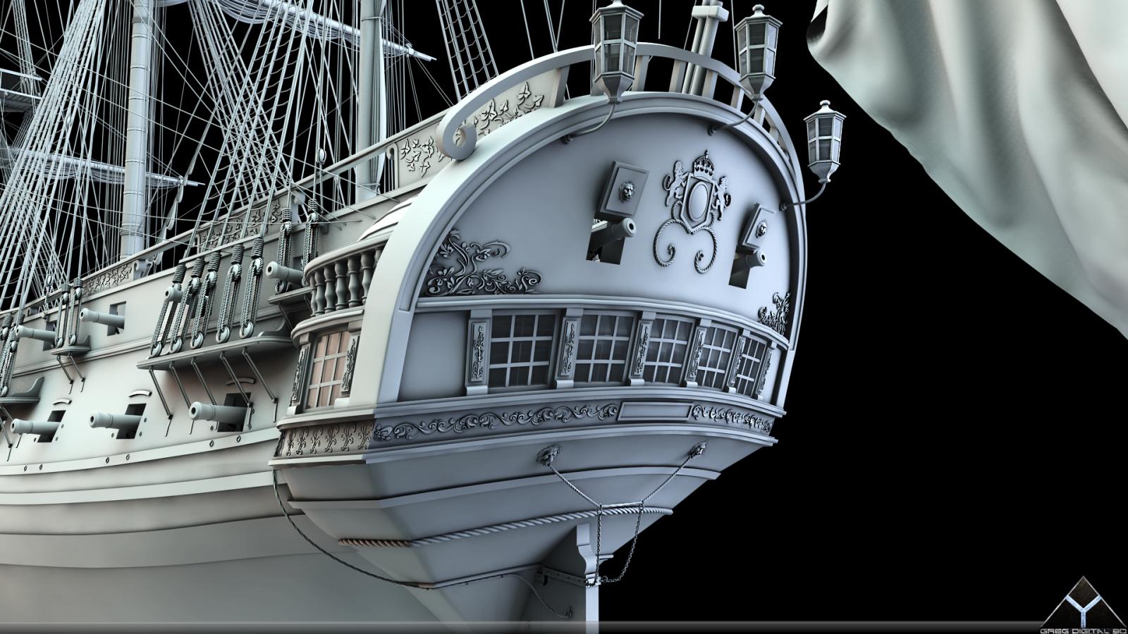 Frégate m'a première réalisation d'un navire en 3D. - Page 6 533308FrgatelightroomR16grosplan