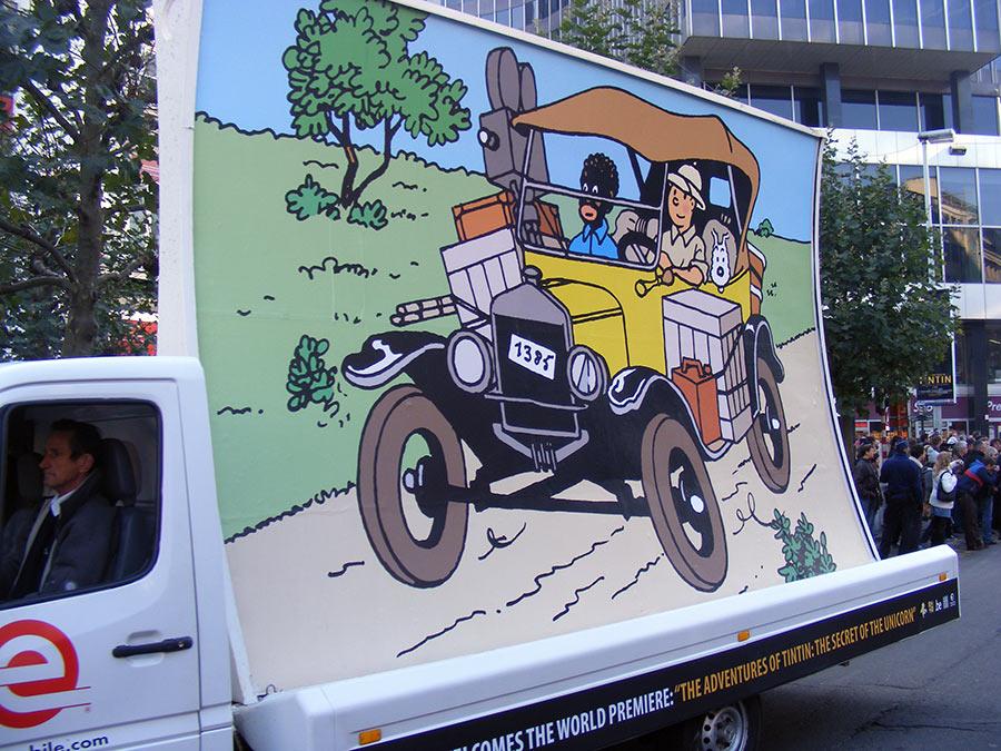 """Bruxelles côté BD  """"Tintin en automobile"""" 534673DSCF6150"""