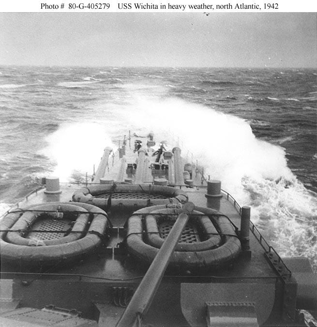 USN CROISEUR LOURD USS WICHITA 538969USSWichitaAtlantique1942