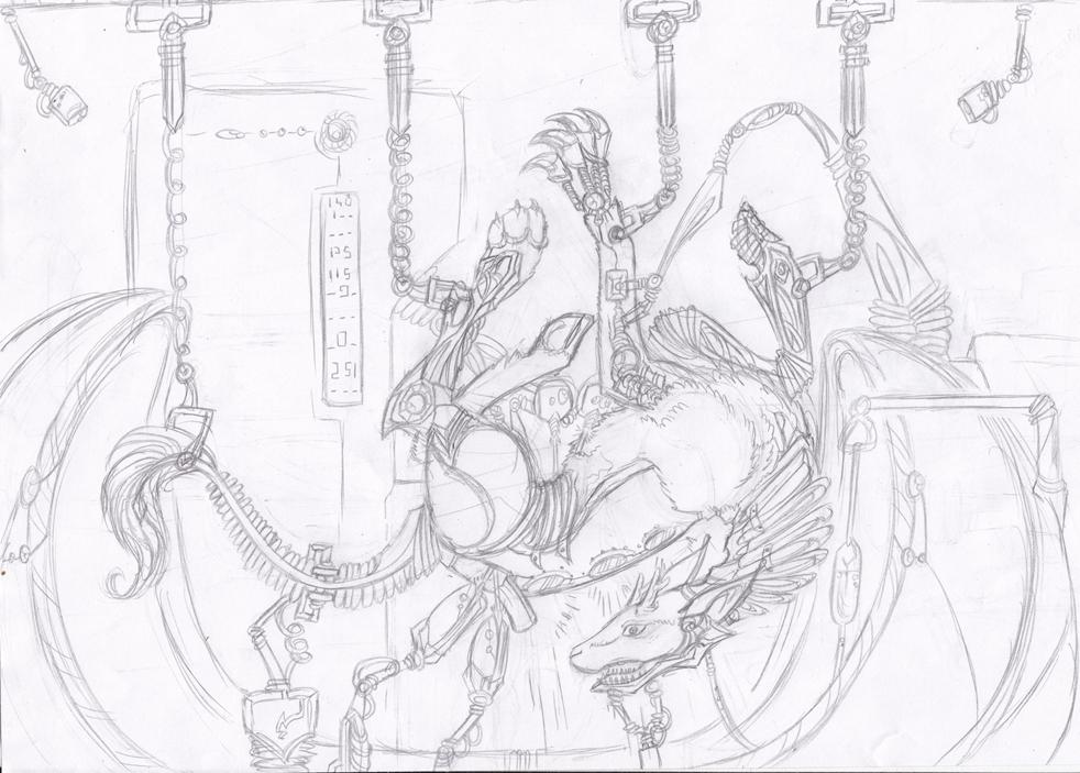 Dragons, chimères et créatures arc-en-ciel - Page 5 552602hybridecroquis