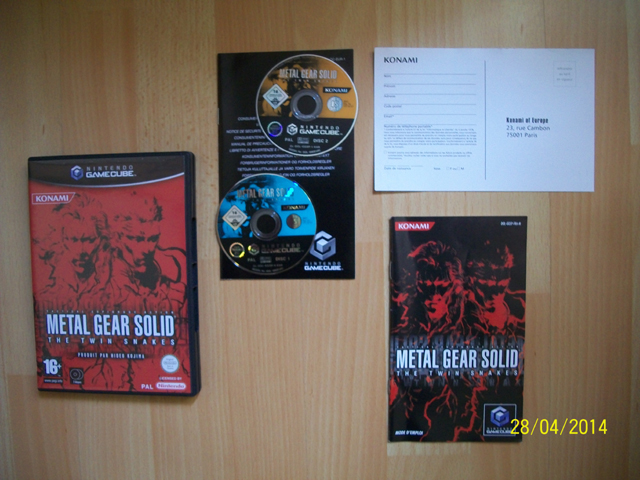 Renseignement contenu Twin Snakes Gamecube 5531411004078