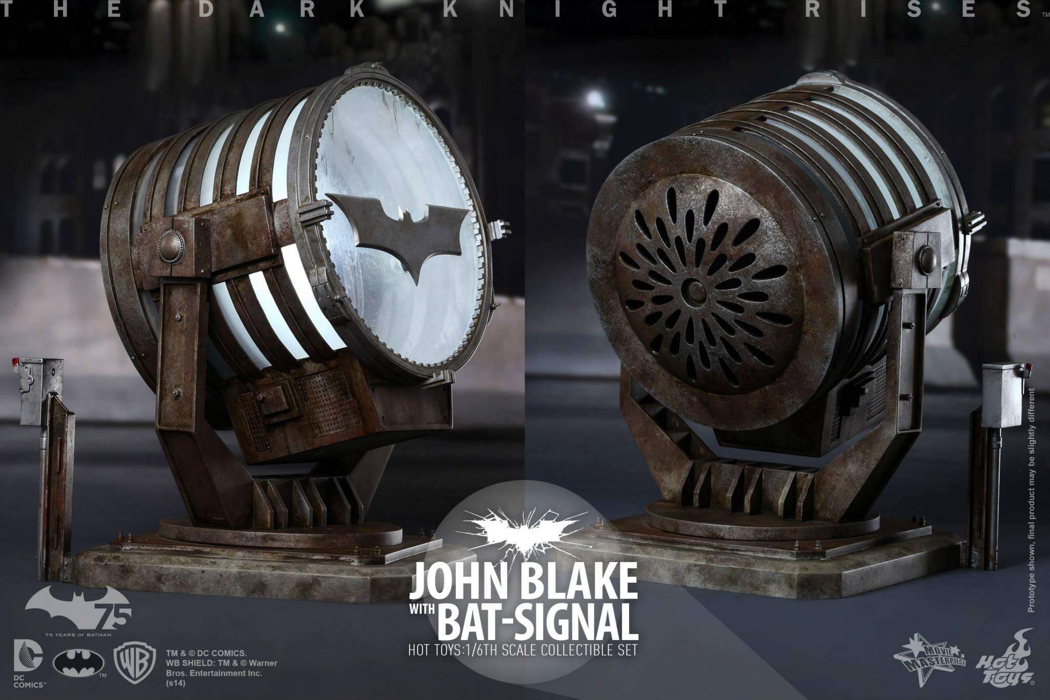 THE DARK KNIGHT RISES - Lt. JIM GORDON & JOHN BLAKE w/BATSIGNAL 556434108
