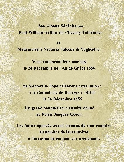 """[ RP ] Domaine """" Les Ails d'Angilon """" - Page 4 558385fairepart2PauletVic"""