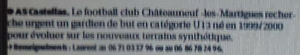 A S CASTELLAS CHATEAUNEUF LES MARTIGUES/ PHA PROVENCE  559108Copie3deP1210515