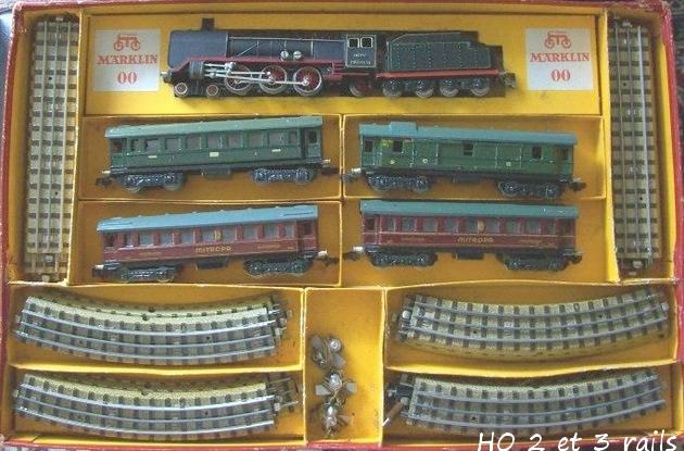 Coffrets Märklin 1936 - 1968 (rouges, noirs, verts ou bleus) 568461Marklincoffret744BR