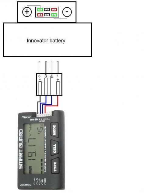 Cablage pour contrôleur lipo 570444connecte