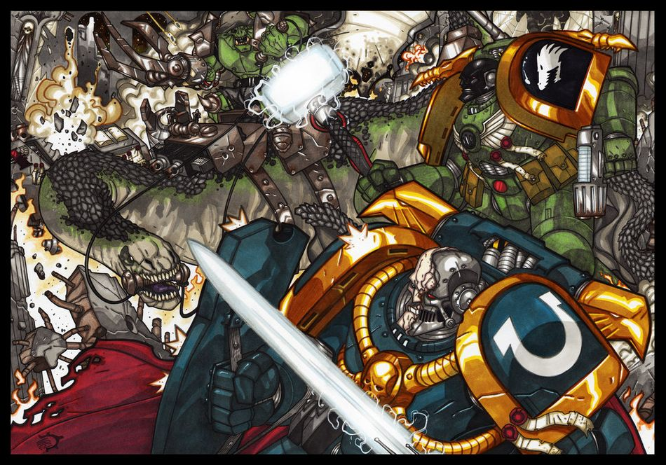 Visions of Warhammer 40K by Aerion the Faithful 571453TheBattleofEvermorebyAeriontheFaithful