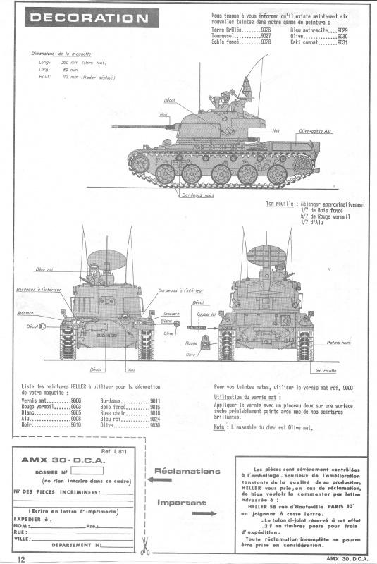 AMX 30 DCA - (Réf. L811) 1/35 572244HellerAMX30DCA811012