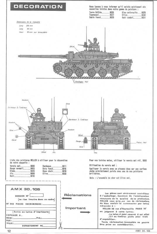 AMX 30 canon de 105 - (Réf. L810) 1/35 572530HellerAMX30105810012