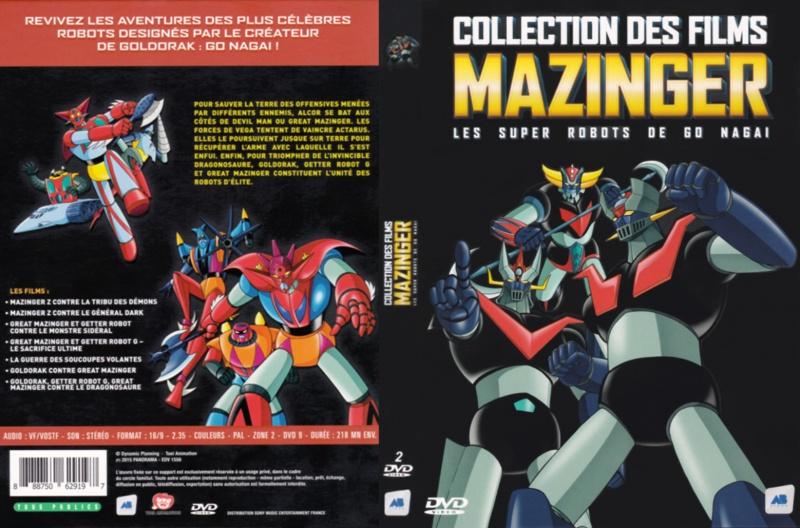 Collection des films Mazinger : les super-robots de Gô Nagaï. 580021CollectiondesfilmsMazinger19561304052015