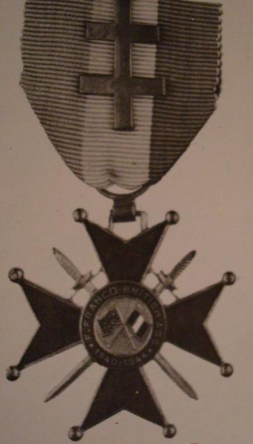 LES DÉCORATIONS AU CHOC 1943-1945. 580190croixdhonneurFrancoBritannique1ermodle
