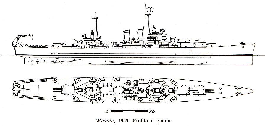 USN CROISEUR LOURD USS WICHITA 581488USSWichita1945
