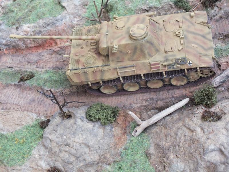 Panther Ausf D Dragon 1/35 avec Zimmerit réf. 6428 (FIN  DE PATINE , finitions lors de la  mise en place sur Dio) - Page 3 585863DSCF6428