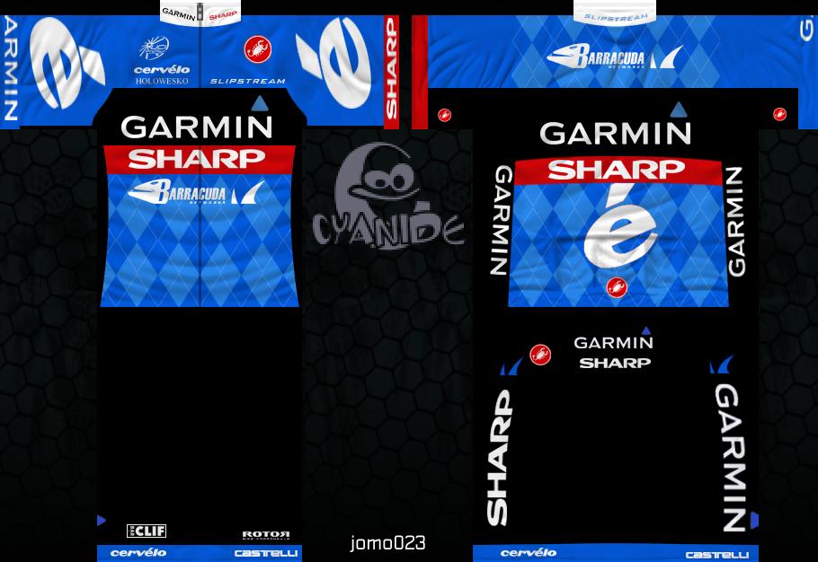 GARMIN-SHARP 591245grsmaillot