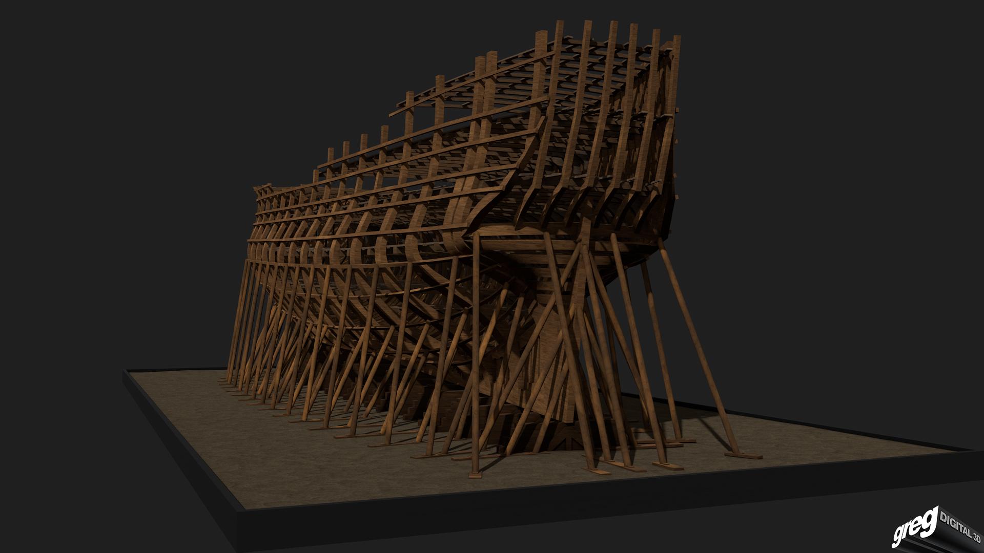 Etapes de construction 3D d'un navire de 74 canons. 596909Squelette2