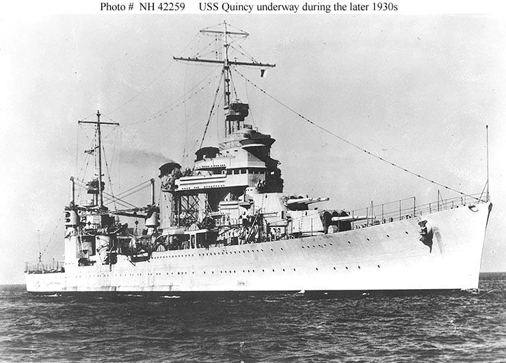 USN CROISEUR LOURD USS WICHITA 603074USSQuincyCA39