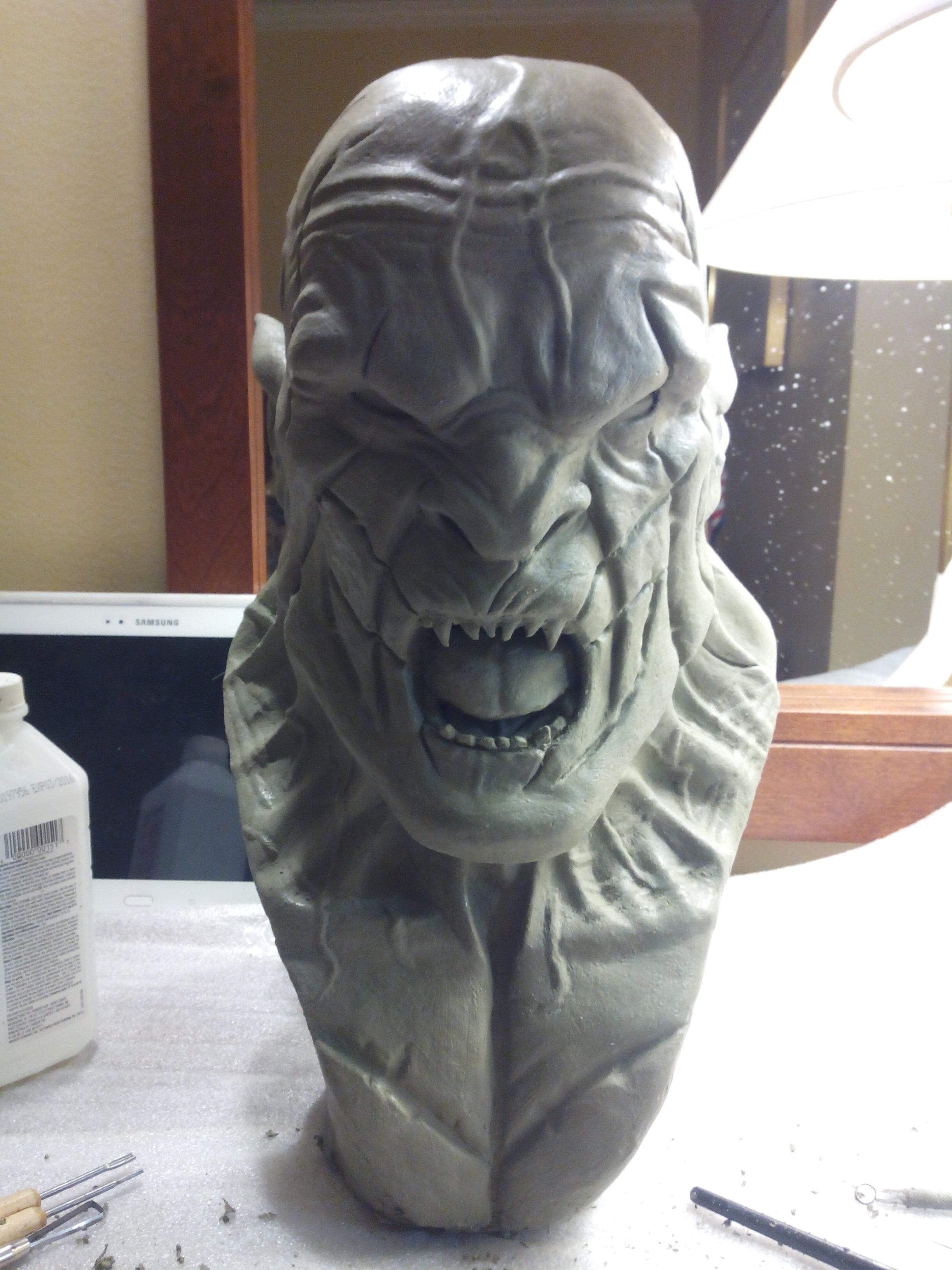 Azog le profanateur sculpture en argile 603619IMG20140722211027