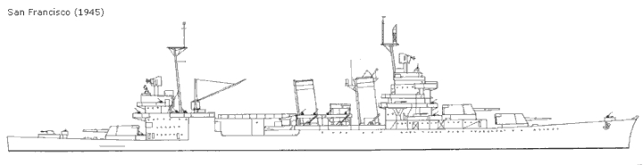 USN CROISEUR LOURD USS WICHITA 604097sanfrancisco