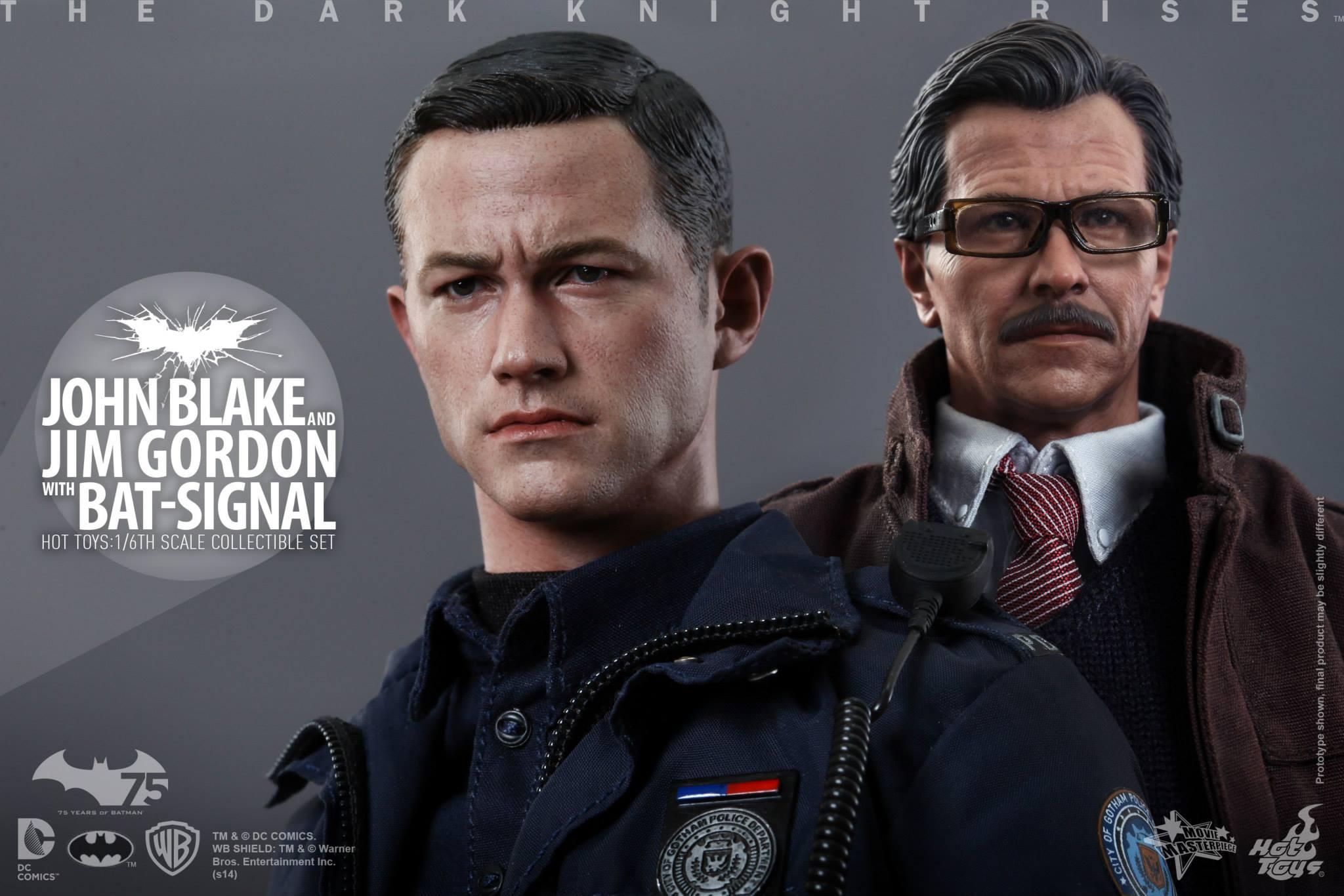 THE DARK KNIGHT RISES - Lt. JIM GORDON & JOHN BLAKE w/BATSIGNAL 608508108