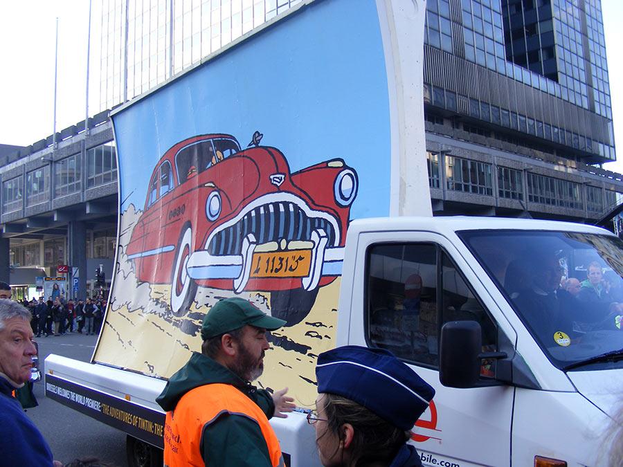 """Bruxelles côté BD  """"Tintin en automobile"""" 609316DSCF6190"""