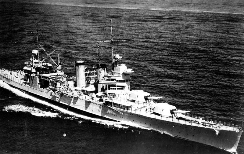 USN CROISEUR LOURD USS WICHITA 610325USSTuscalooosaaot1935