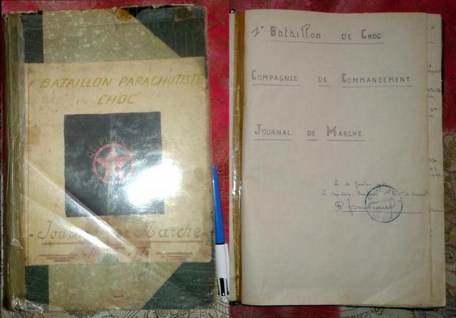 Journal de marche Compagnie de Commandement  Bataillon de Choc  Indo 614149journaldemarchechocindo