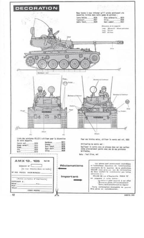 AMX 13 Canon de 105 [ Heller ] 1/35 61756213105012