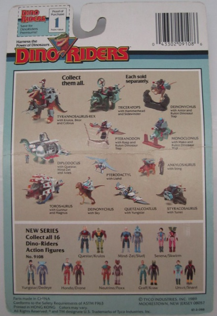 Les jouets DINO-RIDERS ( dinoriders ) - IDEAL 620171004