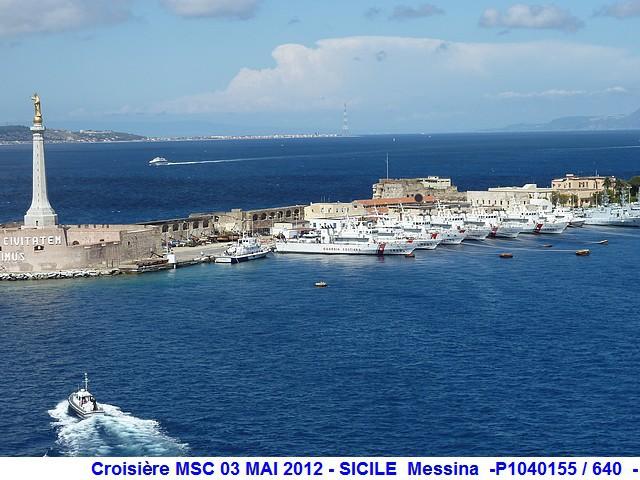 MSC Splendida Du 28 avril au 5 mai 2012 Gêne Barcelone Tunis La valette Taormine Messine Rome 624763P1040155