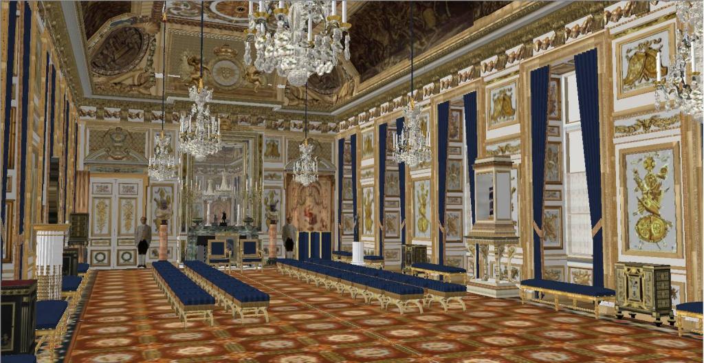 Reconstitution virtuelle du Palais des Tuileries, états Premier Empire et Second Empire 625064officiers3