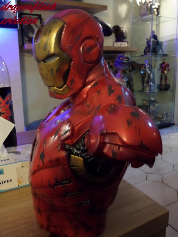 dragonflash création : buste iron man 1/2  (+-40 cm de haut) le final 6255288039