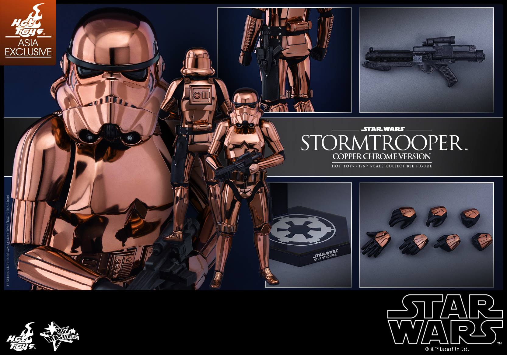 HOT TOYS - Star Wars: TFA - Stormtrooper Copper Chrome 626998113