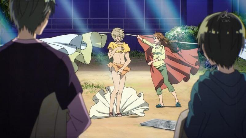 [2.0] Caméos et clins d'oeil dans les anime et mangas!  - Page 7 631610DeadFishBokurawaMinnaKawaisou02720pAACmp4snapshot133820140413163148