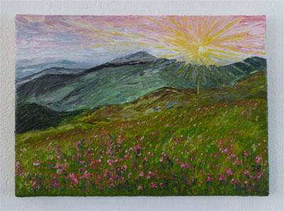 Explosion de couleurs sur la montagne. (Huile) 634645Explosiondecouleursenmo