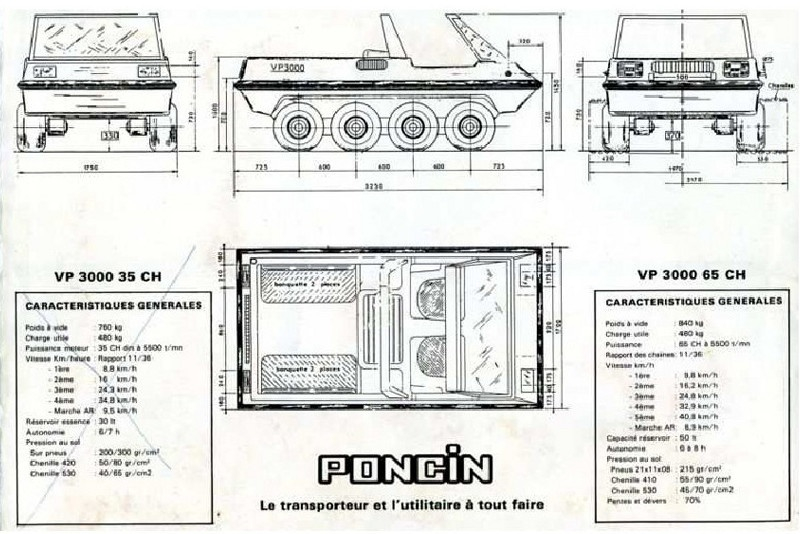VP 3000 PONCIN 8X8 amphibie  éch : 1/2,6 64032002460