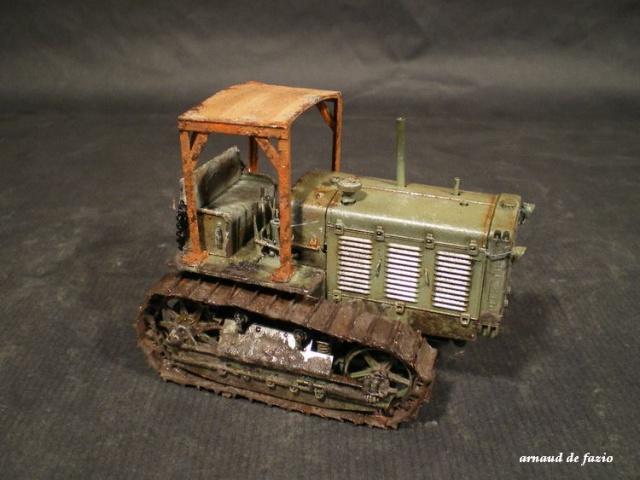tracteur d artillerie soviétique chtz s-65 version allemande 1/35 trumpeter,tirant 2 blitz de la boue 648033IMGP1859