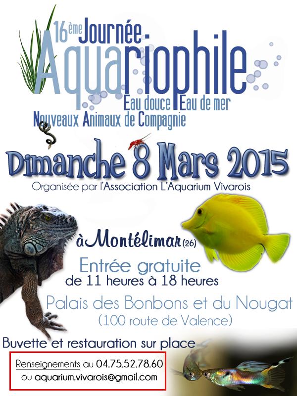 Aquarium Vivarois - 16ème bourse aux poissons à Montélimar (26) le 08.03.2015 649020613131AffichepubClub201511