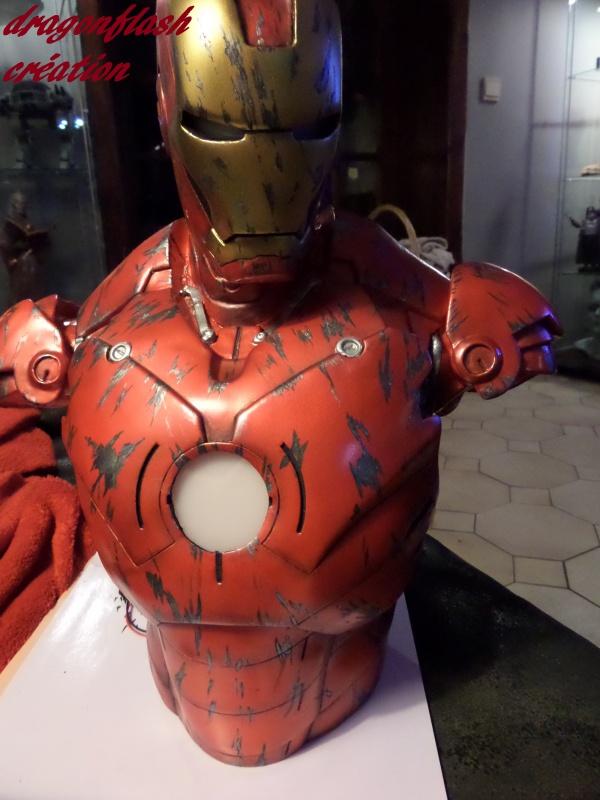 dragonflash création : buste iron man 1/2  (+-40 cm de haut) le final 6525391146