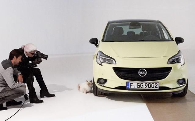 En coulisses avec l'Opel Corsa, Karl Lagerfeld et Choupette, top model 653920OpelCorsaLagerfeld293232