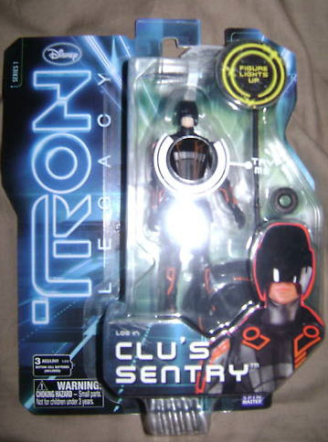 "TRON LEGACY fig 3""3/4 659425Clus_Sentry_Tron_Legacy_toy_action_figure"
