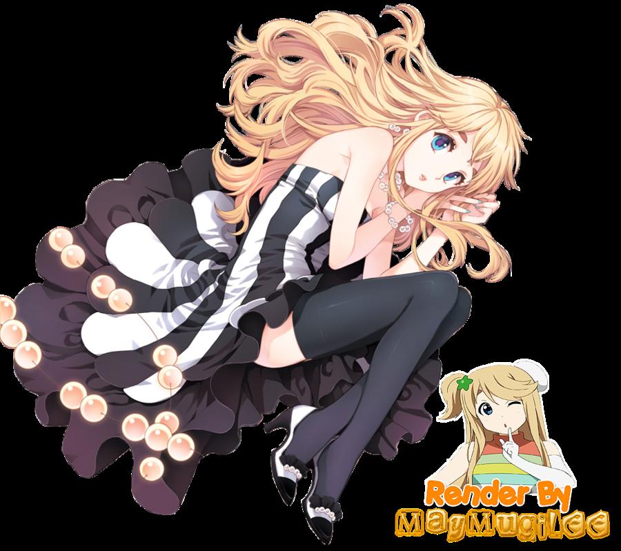 Render anime girl 666130tsumugicutedressrenderbymaymugileed55tdws