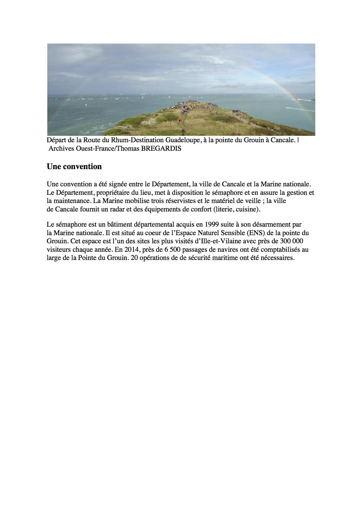 SÉMAPHORE - LE GROIN (ILLE ET VILAINE) 6678612GrouinOuestFrance300415
